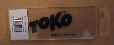 TOKO Plexi Blade 5 mm, short side tapered at a 45° angle,  MADE IN SWITZERLAND