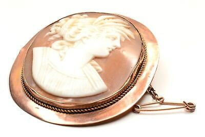 Lovely VINTAGE CAMEO Circa 1880's Depicting Goddess Demeter in 9ct Gold
