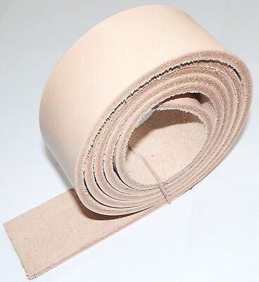 """4MM THICK NATURAL VEG TAN PREMIUM LEATHER BELT BLANKS 150cm - 59"""" INCHES LONG"""