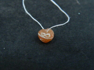 Ancient Etch Carnelian Bead Roman 200 BC #BE5041