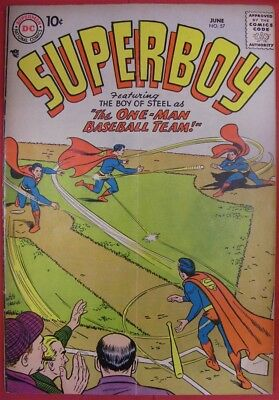 Superboy 57 Dc Silver Age Comic Swan Schiff Moreira Binder Boltinoff 1957 Vg