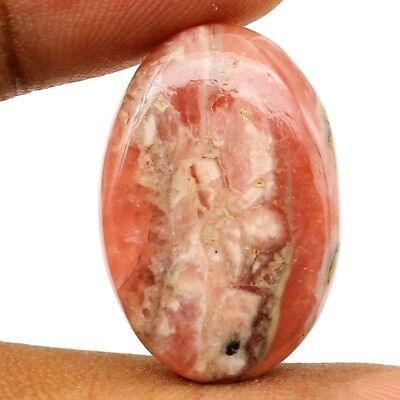 30.95 cts Natural Designer Rhodochrosite Untreated Gemstone Oval Loose Cabochon