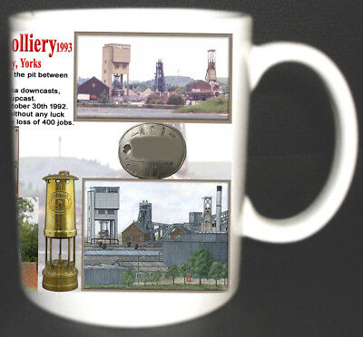 Houghton Main Colliery Coal Mine Mug. Limited Edition Gift Miners Yorkshire Pit