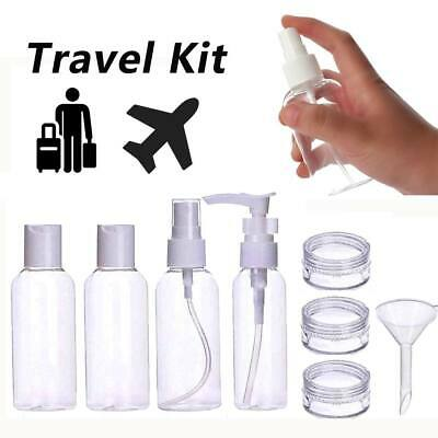 Empty Clear Travel Bottles Set Perfume Atomizer Spray Cosmetic Container Jar Kit