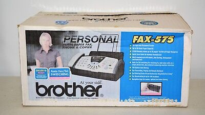 Brother #575 Personal Plain Paper Fax Phone & Copier New In Box