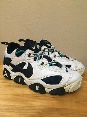 online store 624a0 9cdcc Vintage 1996 Nike Air Barrage Low Sz 11 Teal Navy Black White Turf Football  Vtg