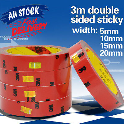 3m Strong Permanent Double Sided Sticky Versatile Roll Tape Heat Resistant Stick