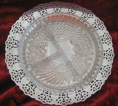 1 - Rogers Cluny Silverplate Condiments Dish (2018-103D)