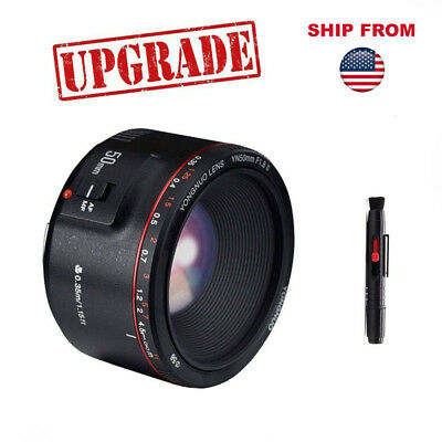 Yongnuo YN50MM F1.8 II Metal Mount Prime AF MF Auto Manual Lens for Canon Camera