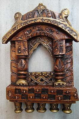 Vintage Rare Tribal Wooden Jarokha Home Decor Collectible Art Very Fine Art