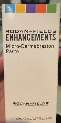 Rodan And Fields ENHANCEMENTS Micro-Dermabrasion Paste (Box of 10) NIB