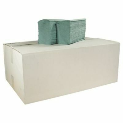 V Fold 1 Ply Recycled Paper Hand Towels Pack of 5000 (Green) | 20 x 250 Packs