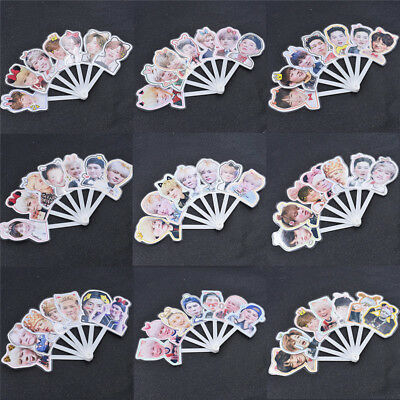 1pc GOT7 Member Printed Mini Hand Fan PVC Portable Fan Summer Jackson JB Mark
