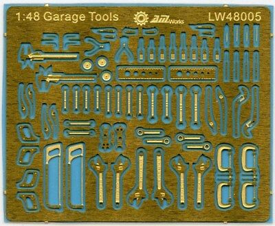 Alliance Model Works 1:48 Scale Mechanic Tools Connectionless PE #LW48005