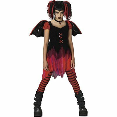 Pink Skull Fairy Costume for Girls size 4-6 New by Fun World 111262