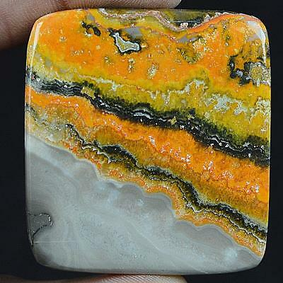 154ct Natural High Grade Bumble Bee Jasper Radiant Cabochon from Indonesia MV93