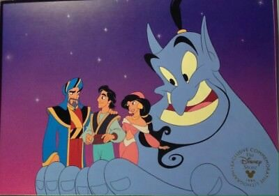 Disney Litho With Envelope Aladdin And The King Of Thieves
