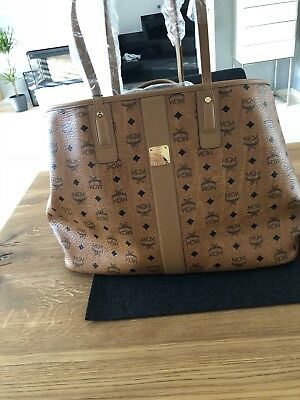 MCM PROJECT VINTAGE Liz Reversible Large Cognac Shopper NEU