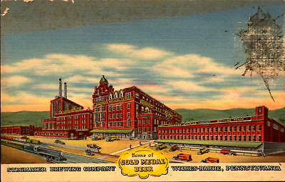 Postcard Stegmaier Brewing Co. Gold Medal Beer Wilkes-Barre PA - 2