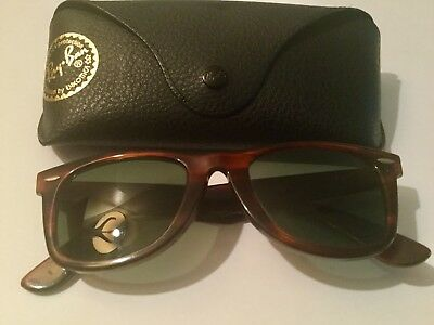d13ea2ba9a B L Made in USA Vintage Ray Ban Wayfarer Tortoise Sunglasses 5022 with Case