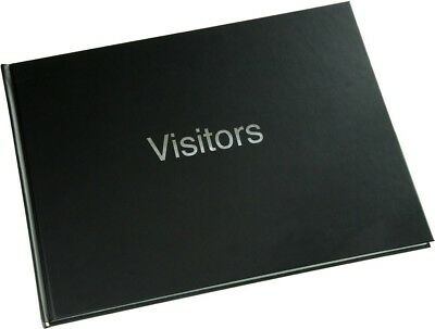 Large Hard Back 720 Entry Visitors Guest Record Book Black