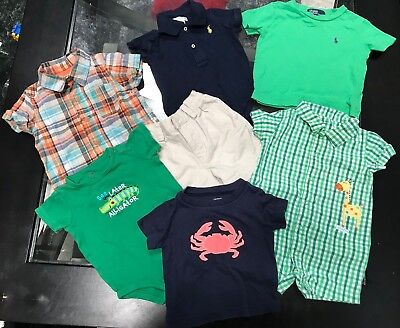 Ralph Lauren Genuine Baby Carters Lot Of Baby Boy Clothes SZ 9M Pre-owned