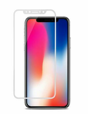 5D Cold Carving 4D 3D Curved Edge 9H tempered glass For iphone X HD Full WHITE