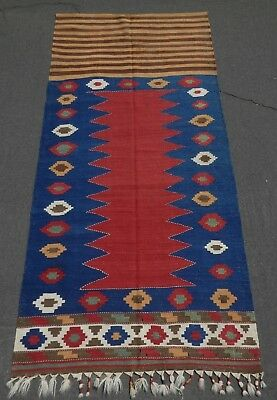 STUNNING! RARE ANTIQUE CAUCASIAN KAZAK DOOR COVER KILIM. A+ Cond & Natural Dyes!