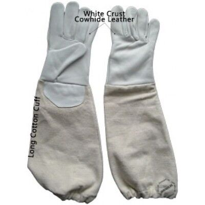 Child's Small Beekeeping Gloves Children Beekeepers Gloves White Genuine Leather