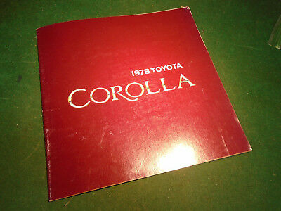 1978 TOYOTA COROLLA 20 page BROCHURE - NOS - FREE POSTAGE  (10278)