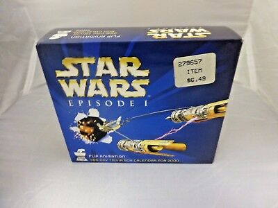 STAR WARS Episode I Flip Animation Trivia Box Calendar for 2000
