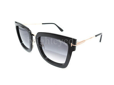 07dec11eae4 AUTHENTIC TOM FORD Lara -02 Black Sunglasses FT TF 573 - 01B  NEW ...