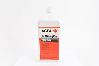 Agfa Neutol Plus Black and White Paper Developer 1 Liter NOS V02