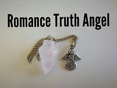 Code 938 Rose Quartz Infused Pendulum Romance Truth Ange Doreen Virtue Certified
