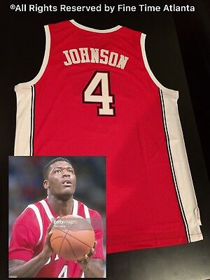 UNLV 1989 Running Rebels #4 Larry Johnson Jersey Throwback College Basketball