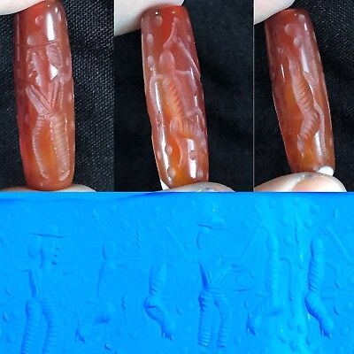 Rare Ancient Agate Carnelian Cylinder Seal