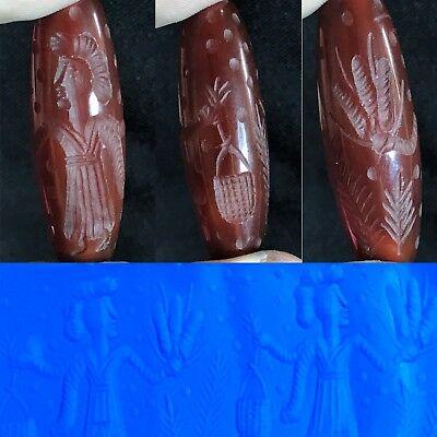 Ancient HOLY LAND Wonderful Agate Cylinder Seal