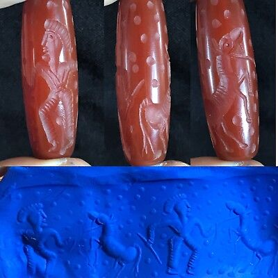 Lovely Ancient AGATE Well carved Cylinder Seal