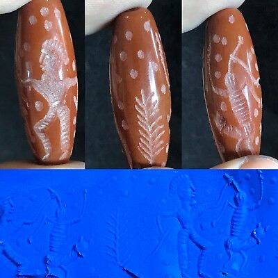 Rare HOLY LAND Agate Carnelian Cylinder Seal