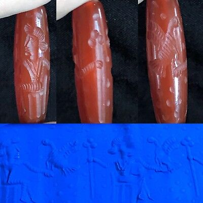 Stunning Ancient TIME Agate Cylinder Seal