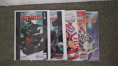 ULTIMATE COMICS THE ULTIMATES Lot 14 comics Cataclysm  Hawkeye #1 Marvel