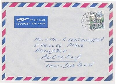 (K81-87) 1980 Sweden Air mail envelope to NZ (CN)
