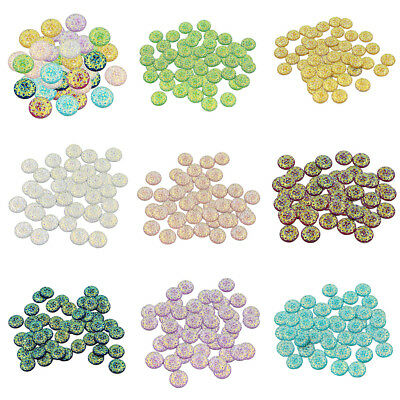 50 Pieces Multiolor Resin Round Stone Beads Hair Decor Jewelry Making Craft