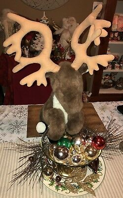 Canadian Mist Reindeer Stuffed Plush Promo Whiskey Posable Antlers Large Rare