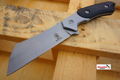 Hunting Knife w/ Stainless Fixed Blade and Black Handle