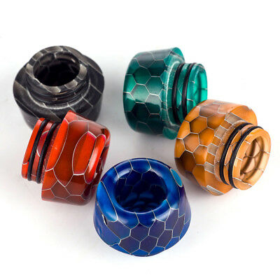 1Pc 5Colors Wide Bore Epoxy Resin Mouthpiece Snake 810 Drip Tip For TFV12 Prince