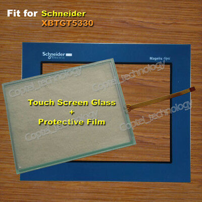 for Schneider XBTGT5330 Touch Screen Glass + Protective Film 1 Year Warranty