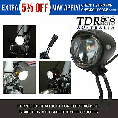 24V 36V 48V Electric Bike Mountain EBike Bicycle Front LED Headlight Lamp Light