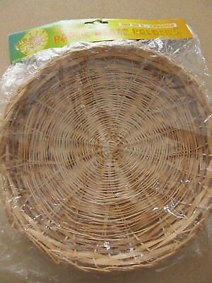 NIP Bamboo Paper Plate holders Set of 4 natural color 1998 & NIP BAMBOO PAPER Plate holders Set of 4 natural color 1998 - $5.00 ...