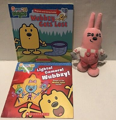 Wow Wow Wubbzy TY Beanie Widget HC Book Gets Lost Magnets Lights Camera Lot